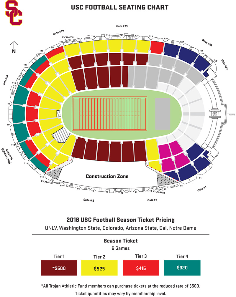 Usc trojans football 2018 season tickets